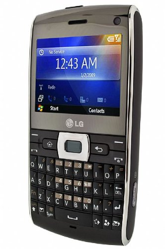 LG GW550 GSM Unlocked Smartphone with 3MP Camera, Windows Mobile, Full Qwerty Keyboard, Memory Card Slot--International Version with No Warranty (Dark Brown)