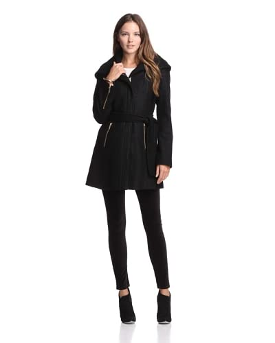 Laundry by Shelli Segal Women's Hooded Coat with Zippers