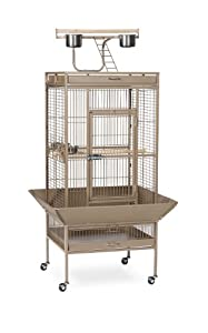 Prevue Pet Products Wrought Iron Select Bird Cage 3152COCO Coco Brown, 24-Inch by 20-Inch by 60-Inch