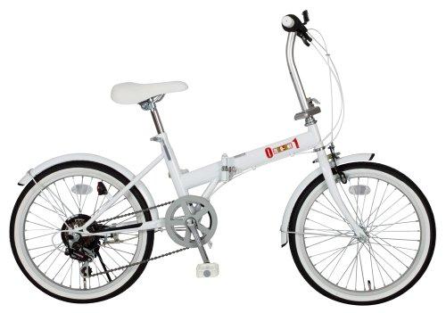 ミムゴ(MIMUGO) ZERO-ONE シマノ製6段ギア搭載 折りたたみ自転車 20インチ ホワイト MG-ZRE206-WH