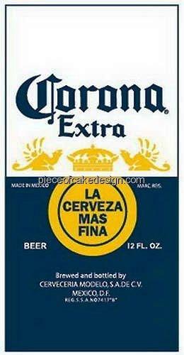 1/8 Sheet ~ Corona Extra Logo Birthday ~ Edible Image Cake/Cupcake Topper!!!
