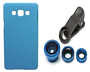 Toppings Hard Case Cover With Universal Clip Lens For Samsung Galaxy J5 2016 - Skyblue