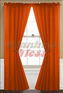orange sheer curtain 2 panels rod pocket 57 x 84 hom