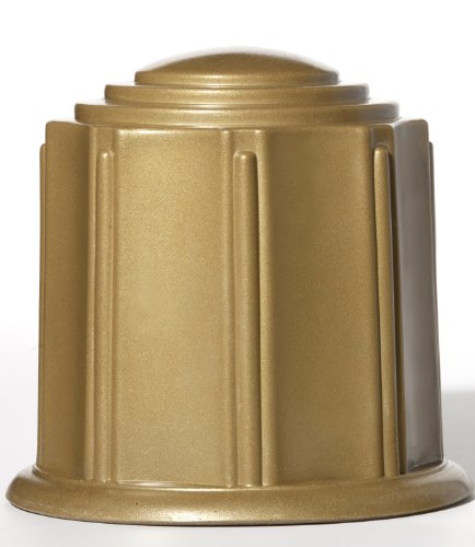 Cremation Urn Poly Bronze Textured Round Water Tight Burial Urn ForeverSafe by Granger Plastics (Burial Urn Vault compare prices)