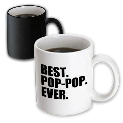 3Drose Best Pop-Pop Ever, Gifts For Grandfathers, Grandpa, Magic Transforming Mug, 11-Oz