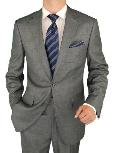 Salvatore-Exte-Mens-Suit-Two-Button-Jacket-Flat-Front-Pants-Stripe