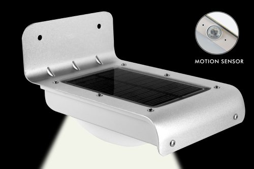 Propel 16 Led Wireless Solar-Powered Motion Sensor Light (Weatherproof & No Batteries Required)