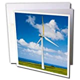 Danita Delimont - Windmills - Hawaii, Windmill with Pacific Ocean - US12 TGI0011 - Todd Gipstein - 1 Greeting Card with envelope (gc_89958_5)