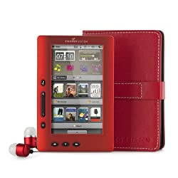 Energy Sistem Libro Electrónico Energy MP5 Color Book 3048 Ruby Red (8GB, HD, DRM, Radio FM)