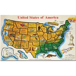 Cheap Fun Melissa & Doug USA Map Wooden Jigsaw Puzzle (B00000JBLI)