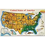 Melissa And Doug USA Map Wooden Jigsaw Puzzle ~ Melissa & Doug