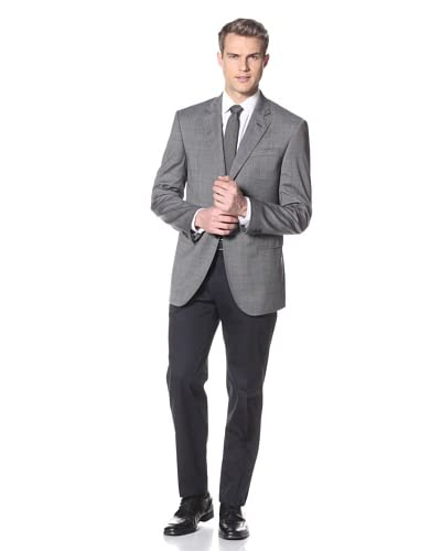 Valentino Men's Two Button Notch Collar Sport Coat  [Grey]