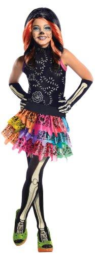Rubie's - Costume per travestimento da Skelita Calaveras, Bambina, 3-4 anni
