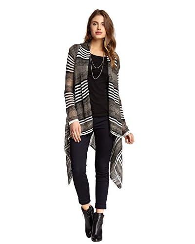 Olivia M Women's Open Stripes Sweater