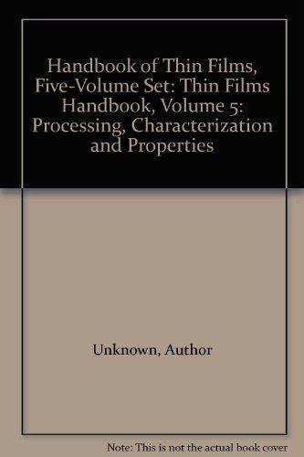 Handbook of Thin Film Materials, Vol. 5: Nanomaterials and Magnetic Thin Films