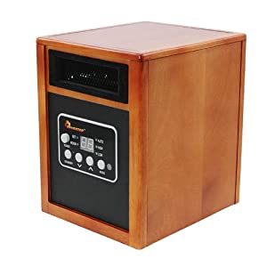 Dr Heater Quartz + PTC Infrared Portable Space Heater - 1500 Watt, UL Listed , Produces 60% More Heat with Advanced Dual Heating System.