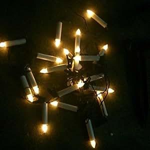 Amazon 20 LED Solar Powered LED String Fairy Candle
