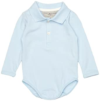 fe9683b9 Buy Tommy Hilfiger Basic Polo Body Long Sleeve Baby Romper at £21.00 from  Amazon