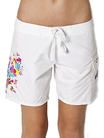 O'Neill Scarlett women's floral embroidered boardshorts 0 Juniors White