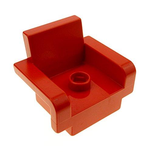 roter Sessel rot Wohnzimmer Schlafzimmer Puppenhaus