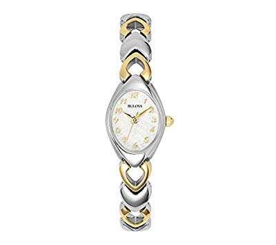 Bulova Women's Two Tone Bracelet Style Watch with Mother-of-Pearl Dial