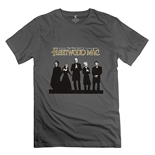 Manrv Mens Fleetwood Mac Mick Fleetwood T-shirt Size XXL DeepHeather (Fleetwood Mac Shirt Xxl compare prices)