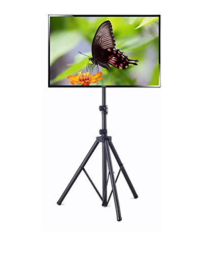 Elitech Steel Portable Plasma or LCD TV Stand with Tripod Legs for up to 55