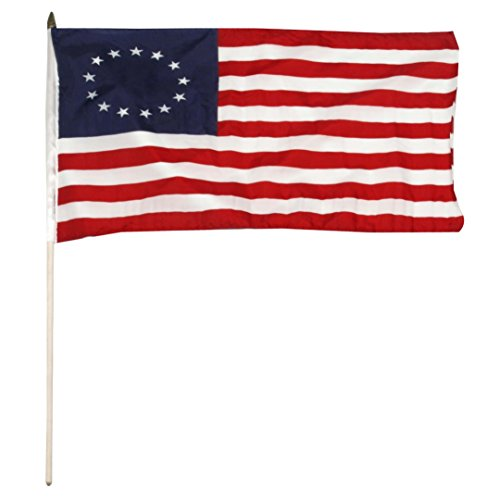 US Flag Store Betsy Ross stick Flag, 12 by 18-Inch (Alternate Us Flag compare prices)