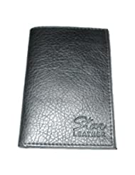 Star Leather Executive Series Black Credit Card/ATM/Visiting Card Holder Multiple Sections For Separate Cards