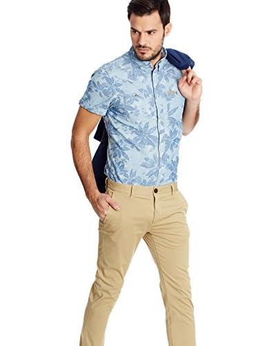 Pepe Jeans London Camisa Hombre Patron Azul Claro