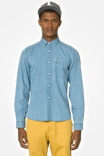 L!VE Long Sleeve Chambray Woven Shirt