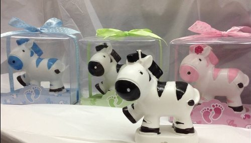 5 Zebra Candle Favors Decoration Birthday Or Baby Shower Jungle Safari Party front-1051663
