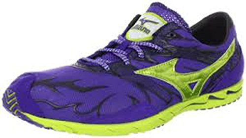 Mizuno Wave Universe 4 Running Shoe,Royal Purple/Lime Punch,12 M Us