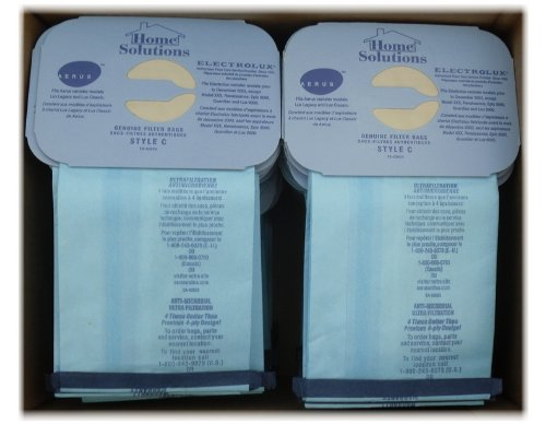 Home Solutions100 Genuine Filter Bags for Aerus Electrolux & Lux Style C -Anti-microbial Filter Bags
