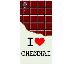 Skin4gadgets I love Chennai - Chocolate Pattern Phone Skin for XPERIA T3 (M50w)