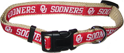 Pets First Collegiate Oklahoma Sooners Pet Collar, Small