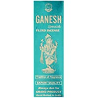 ANAND Ganesh Special Fluxo Charcoal & Bamboo Incense Sticks (20.32 Cm, 50 G, Beige, Pack Of 1)