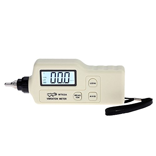 Docooler Portable Digital Vibration Meter with LCD Backlight Vibration Analyzer Tester AC Output Acceleration/Velocity/Displacement Measurement