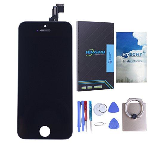 Kit de Réparation Ecran pour iPhone 5C + LCD NOIR Vitre Tactile NOIRE Retina avec chassis + outils