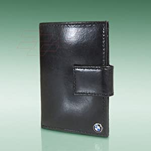 BMW Logo Black Leather French Purse