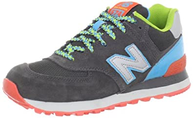 New Balance Women's WL574 BFF Pack Sneaker,Black/Light Blue,9.5 B US
