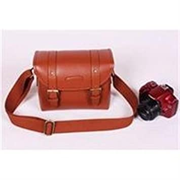 Cosmos Brown Pu Leather Vintage Camera Shoulder Carrying Protection Bag 85