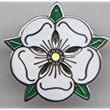 Traditional Yorkshire Rose County Flag Pin Badge