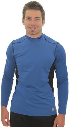 Nike Pro Combat Mens Hyperwarm Dri-Fit Mockneck Shirt Top by Nike