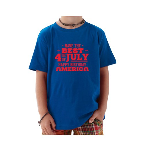Fourth Tees Have The Best 4Th Of July Toddler T-Shirt (Royal Blue, 3T) front-955798