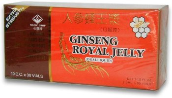 Ginseng Royal Jelly (Extra Strength)- Oral Liquid In Vials (10ml x 30vials) by Royal King (Royal Jelly Vials compare prices)
