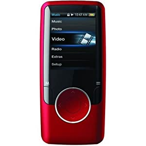 Coby MP620-8GRED 8 GB 1.8-Inch Video MP3 Player with FM Radio (Red)