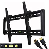 41B91LAb8RL. SL160  VideoSecu Tilt TV Wall Mount Bracket for Most 32  65 LED LCD Plasma TV Flat Panel Screen Free HDMI Cable and Magnetic Bubble Level MF607B 1QH