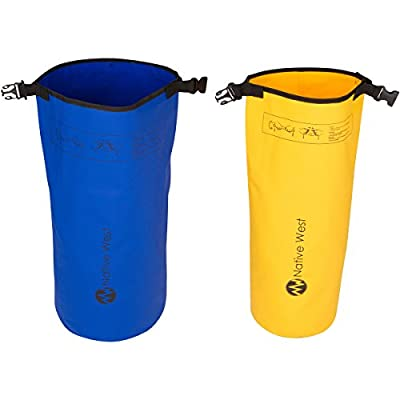 Lightweight Dry Bag Sack (2 Pack) With Shoulder Strap. Waterproof Floating Dry Gear Bags for Boating, Kayaking, Fishing, Rafting, Swimming, Camping, Hiking, Rafting, SUP, and Snowboarding. Dry Compression Sack with High Quality Roll Top Closure System.
