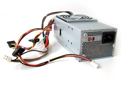 Genuine Dell 250W Power Supply PSU for SFF Small Form Factor Slim Inspiron 530s, 531s, Vostro 200s, 200 (slim only), 220s, Studio 540s Identical Dell Part Numbers XW605, YX301, XW604, XW784, XW783, YX299, YX303, 6423C, K423C, N038C, H856C, YX302, XW602 Compatible Model Numbers: TFX0250D5W, DPS-250AB-28 B, 04G185021200DE